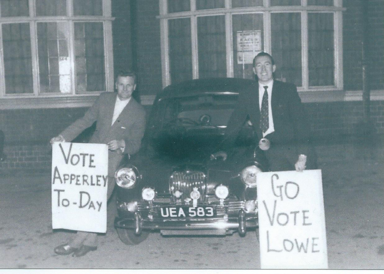 Two redundant Parish Councillors from the 1960's out canvassing, no www. then…. Submitted by John Lowe