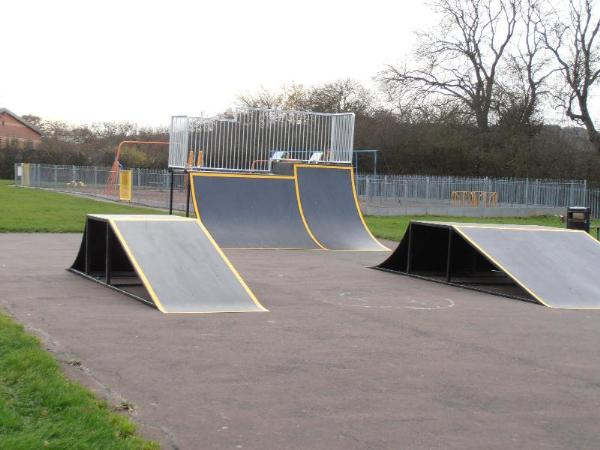 Another view of the skate ramps