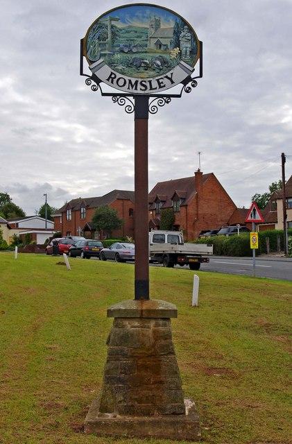 Romsley sign