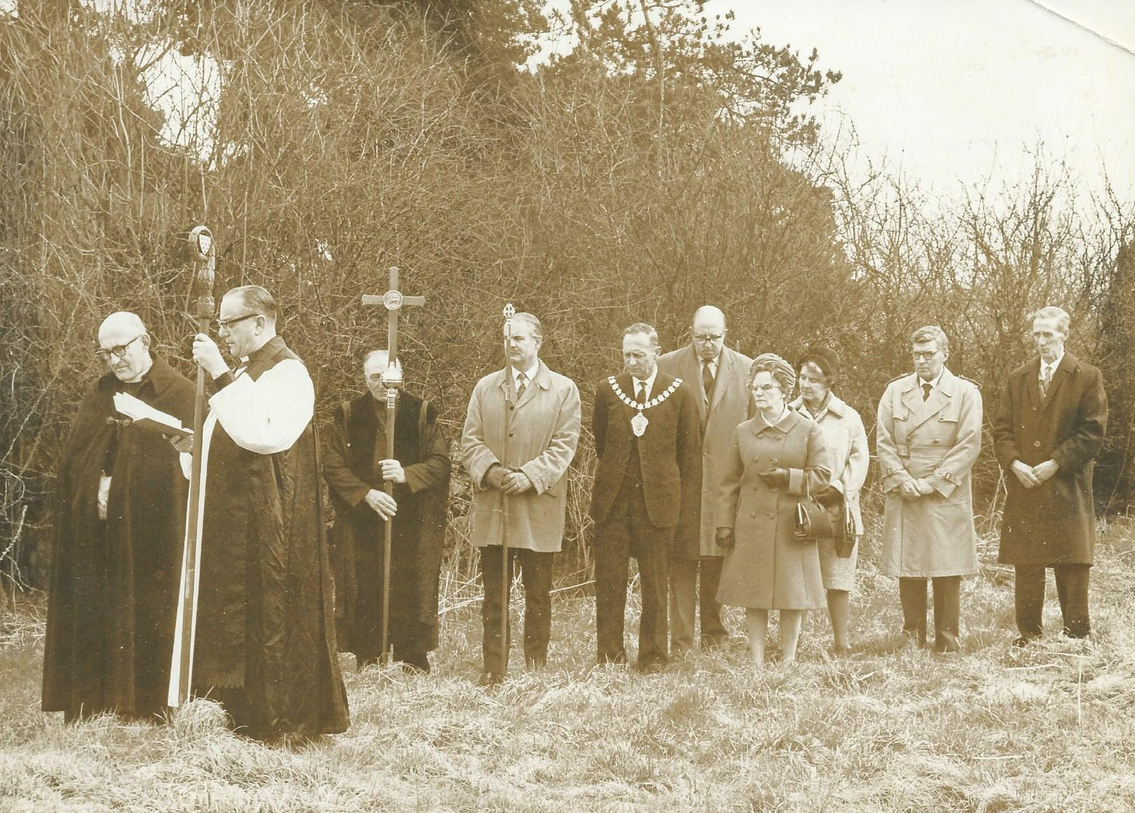 The Consecration of the New Churchyard at St. Kenelms, 11th, April. 1970 Submitted by John Lowe