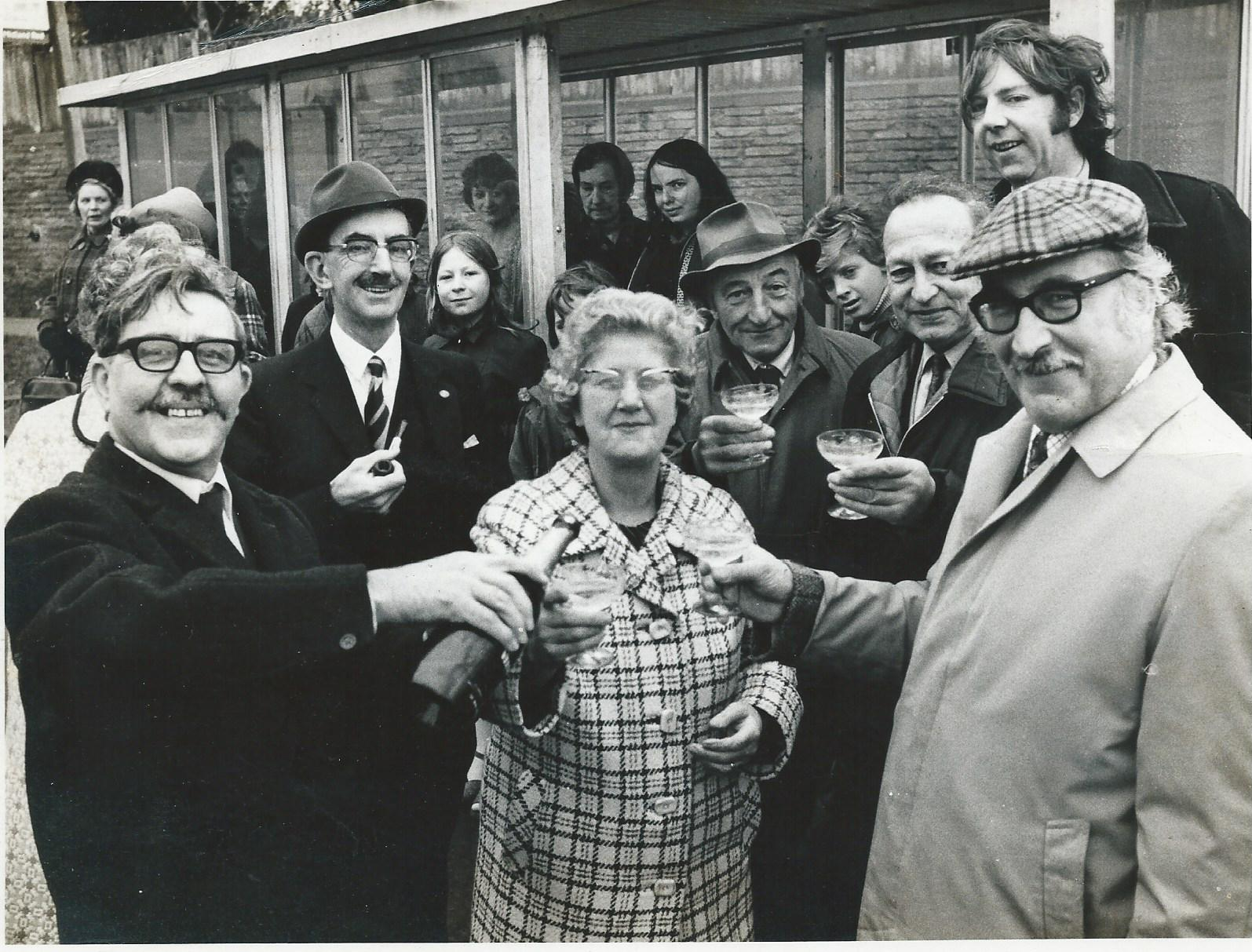 A momentous occasion in the history of Romsley and Hunnington Parish Councils with the opening of the Bus Shelter outside the Sun Inn, on 21st, December, 1974... Submitted by John Lowe