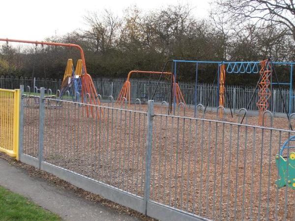 The enclosed play area for the younger children