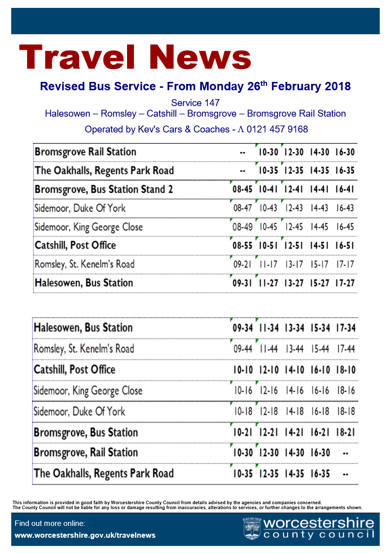 Revised 147 Timetable