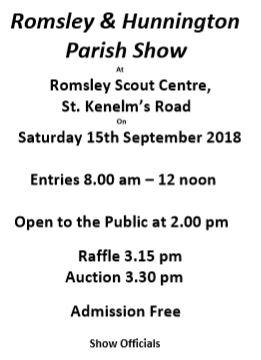 2018 Romsley Hunnington Show