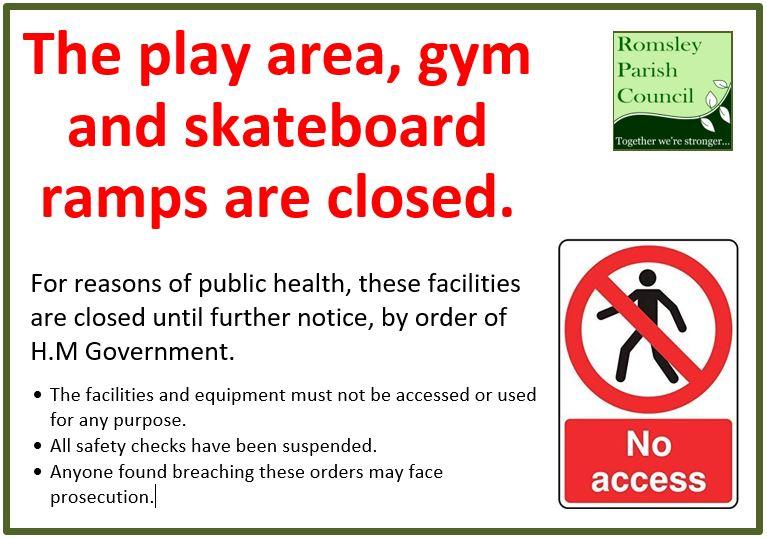 Covid 19 Park Closed Sign