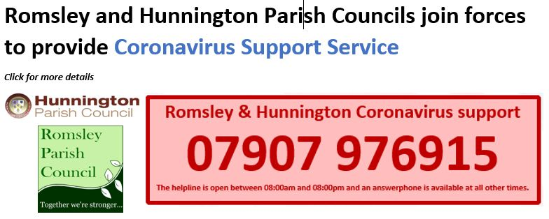 Romsley Hunnington Coronavirus Hotline