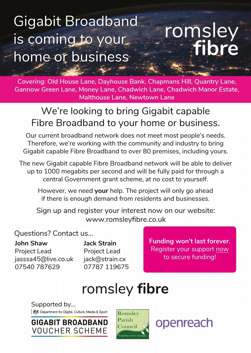 Romsley Fibre Leaflet Page 1
