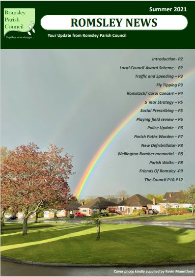 Romsley Parish Council Newsletter Front Page Image